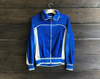 Vintage 80s Levi's USA 1984 Velour Olympic Warm Up Jacket