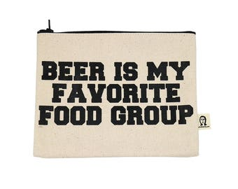 beer is my favorite food group pouch