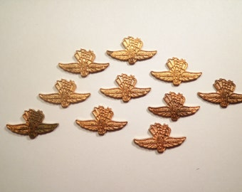 10 Vintage Brass Indianapolis 500 Wings