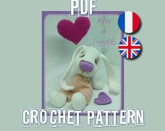 Valentin, le lapin amoureux (Bunny love crochet pattern)