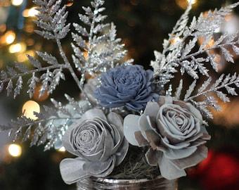 Silver Frost Arrangement