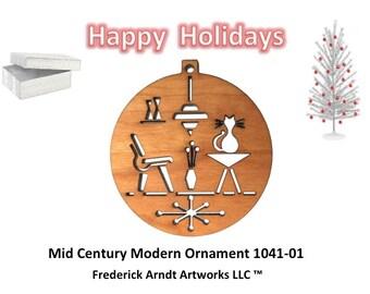 1041-1 Mid Century Modern Christmas Ornament
