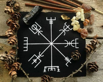 Vegvisir patch//Occult patch//Norse patch//Witchy patch//Punk patch