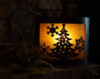 Illuminated Interchangeable Metal Seasonal Display