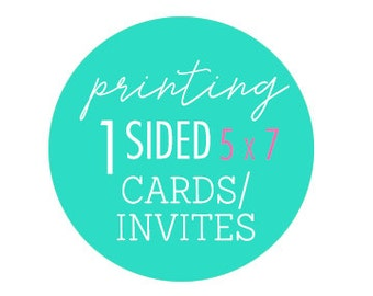 Printing of heavy card stock 5x7 photo cards or invitations