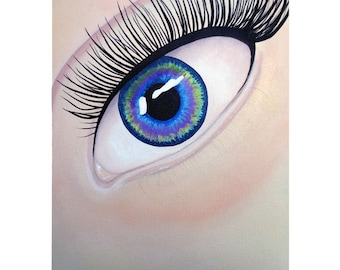 Seeing A Challenge And Embracing It - Speed Painting - Eye Painting - By Mixed Media Aritst Malinda Prud'homme