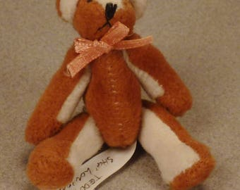 TEDDY BEARS Collectible Signed S London  Original Tiny Miniature Great condition app 3 x1 3/4x1 in