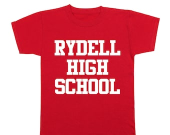 Rydell High School Funny Retro Grease Movie Dance Youth T-Shirt DT0155