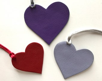 NEW! Leather Double-Sided Classic Hearts - 3 Sizes