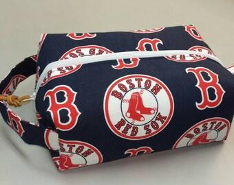 Boston Red Sox navy handmade toiletry kit, shave kit, makeup bag