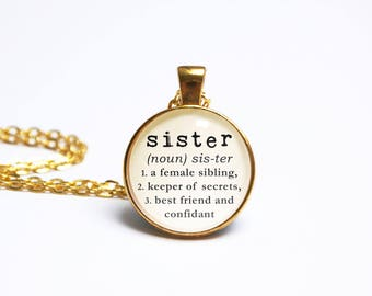 Definition pendant etsy sister necklace definition pendant mozeypictures Gallery