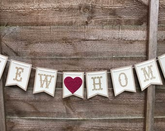 New home bunting, just moved bunting, new home banner, House warming bunting, Bunting, Bannet