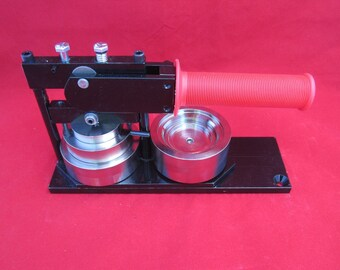 "2-1/4"" inch Button Maker Machine Press and 20 Button Parts"