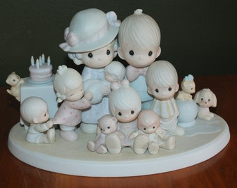 1984 Precious Moments God Bless Our Years Together Commemorative Figurine Collectors Club