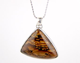 Sterling Silver Biggs Jasper Pendant by TK