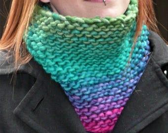 Bulky Cowl- Rainbow Gradient