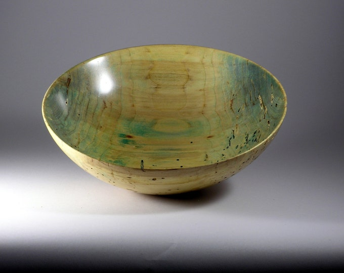 Distressed maple bowl