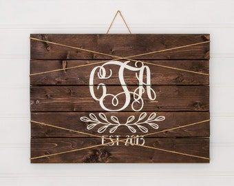 Monogram Picture Display * personalized * wedding gifts * farmhouse signs * picture board