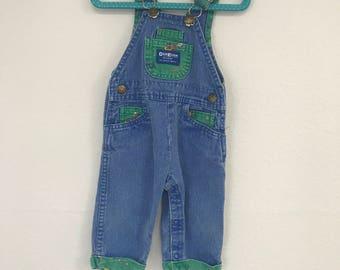Vintage Donky Osh Kosh Overalls, Osh Kosh B'gosh overalls, 6-9 months (run big) FREE SHIPPING