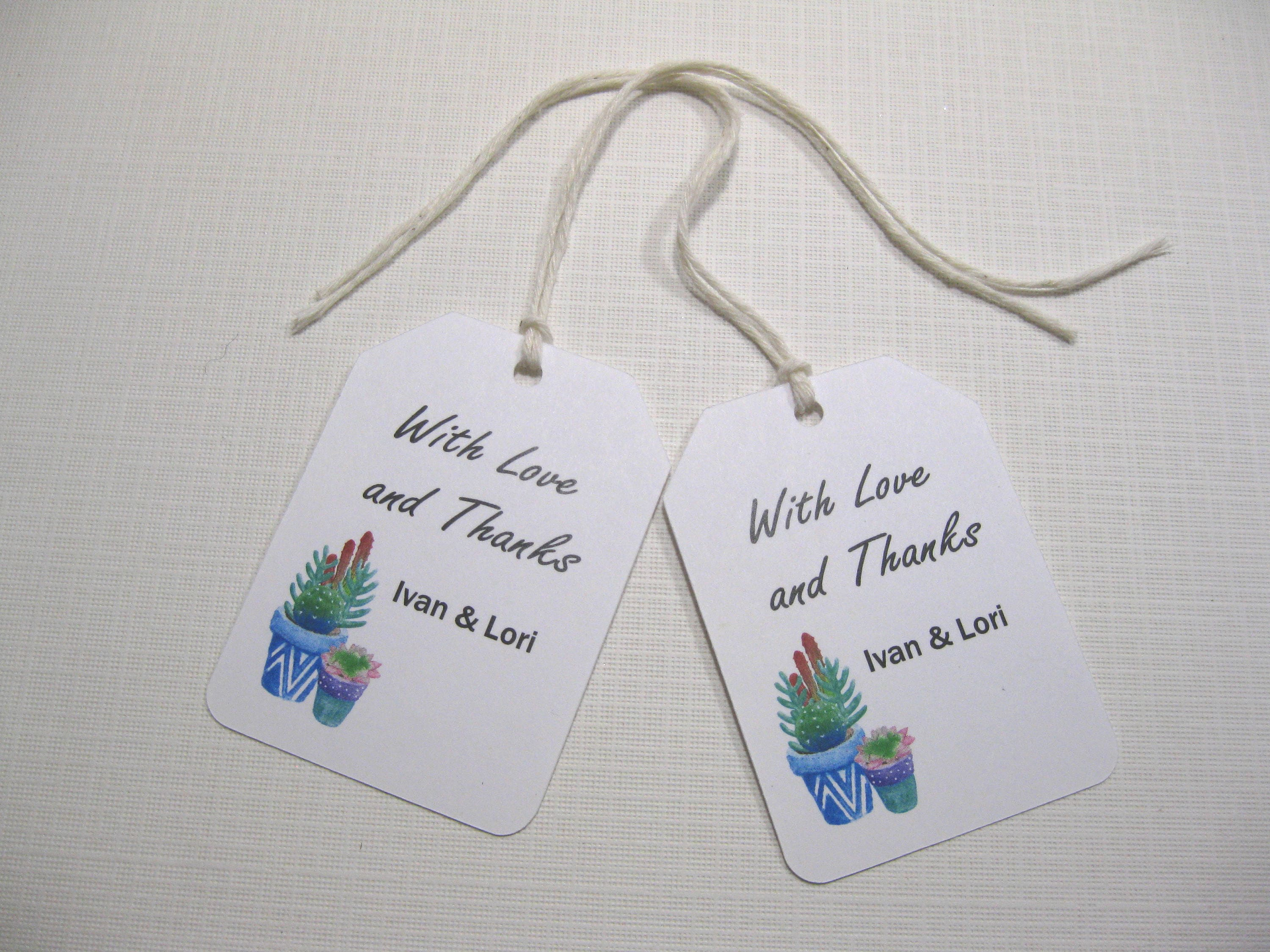 10 Thank You Wedding Favor Tags Wedding Favors South Western Wedding ...