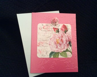 Paris Roses card for Birthday Get Well Thinking of you Anniversary Birthday