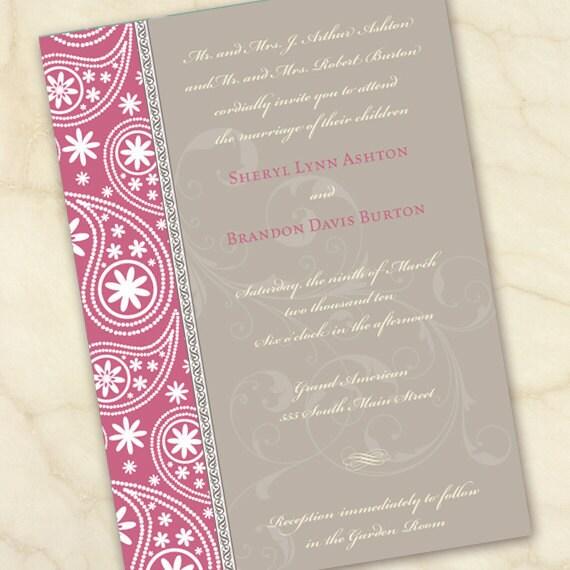 wedding invitations, bridal shower invitations, baby shower invitations, watermelon wedding invitations, pink baby shower invitations