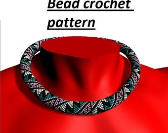 Bead make necklace PDF pattern diy gifts bead tutorial seed bead pattern geometric pattern beaded bead tutorial necklace instruction pdf
