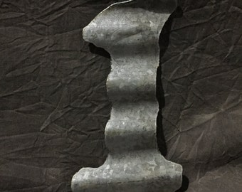 "6"" 1 - Recycled Antique Roofing Tin Number by JunkFX"