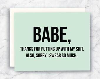 Valentine's Day Card - Funny Valentine's Day Card - Husband Valentine - Boyfriend Valentine - Valentines Card