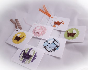 Glitter Baby Carriage Gift Tag (Set of 5)