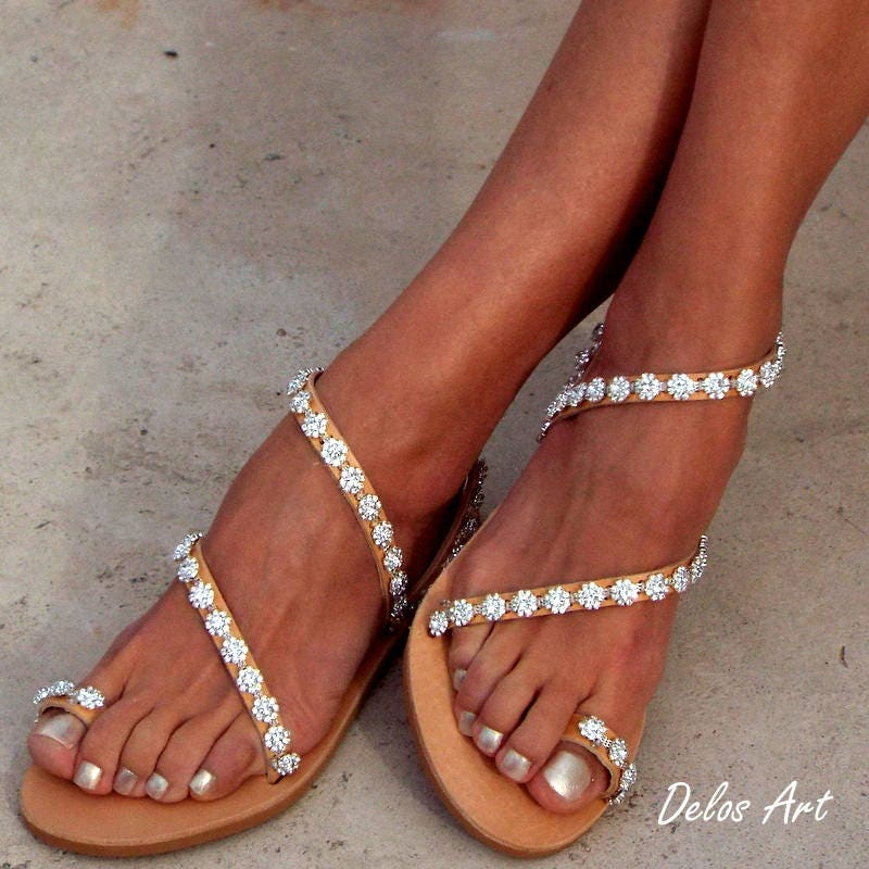 Crystal silver flowers bridal sandals leather sandals white beach gallery photo gallery photo gallery photo gallery photo junglespirit Image collections