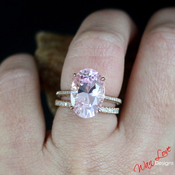rings ring pink wedding diamond engagement sapphire light halo pale