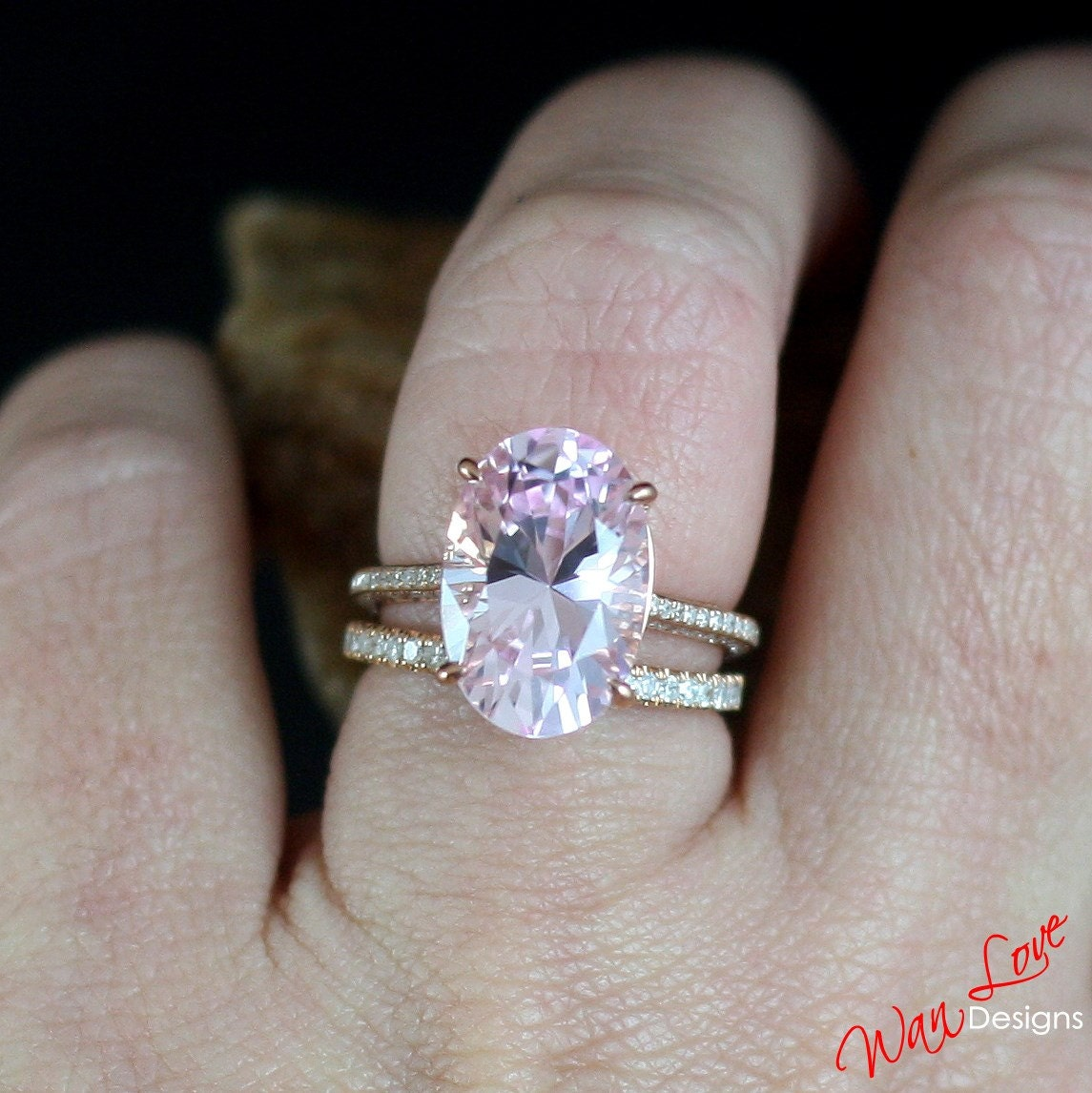 for gold wedding engagement diamond white oval gifts sapphire pink her ring
