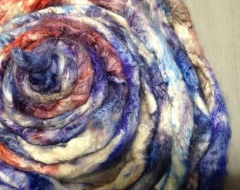 Demelza Dyed Tussah Silk spinning fiber - Poldark inspired