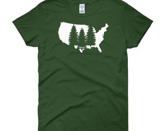 Women's Tree Shirt, Women's T Shirt, Women's National Park T Shirt, Women's Tee, National Park, National Parks, National Park T Shirt, Natio