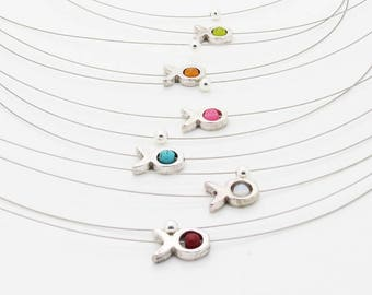 Kit jewelry necklaces fish x 7 colors