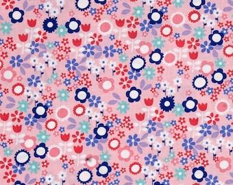 Sweet Emma Flower Drift Pink Fabric by Michael Miller