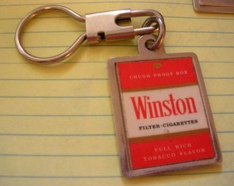 Vintage Memories Winston Cigarette Tobacco Novelty Collectibles Keychain Key Ring