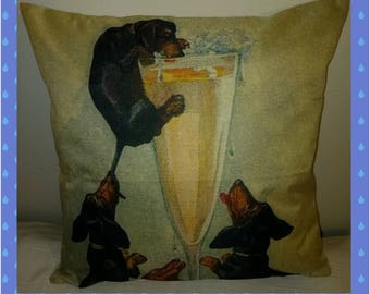 Dachshund Decorative Pillow