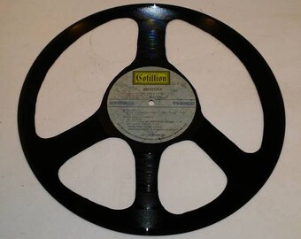 Vinyl Record Peace Sign made from Woodstock record fun unique Wall Art Free Shipping