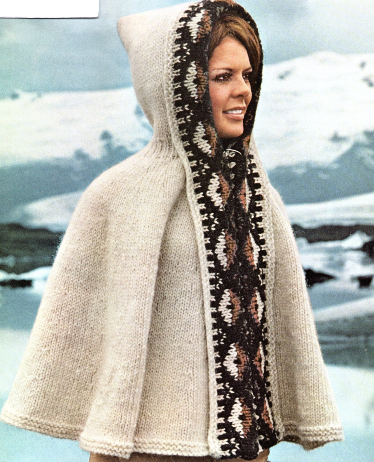 Poncho cape with hood knitting pattern hooded southwest cape poncho poncho cape with hood knitting pattern hooded southwest cape poncho knitting pattern pdf instant download dt1010fo
