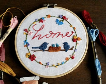 Home Embroidery Art: Home