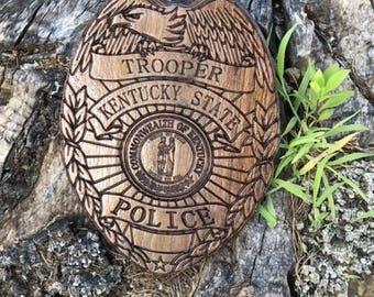 Kentucky State Trooper Wall Art badge sign decor