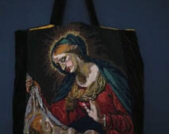 Bag, canvas tote, vintage