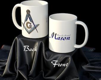 MASONIC SQUARE and COMPASS 11 oz Mug