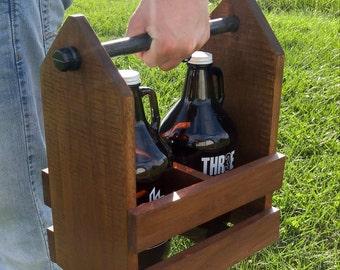 Groomsmen Gift - Industrial Growler Caddy - Industrial Growler Carrier