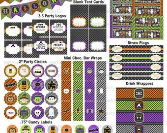 INSTANT Download - Kids Halloween Insta-Party Full Package - Digital Printable pdf files