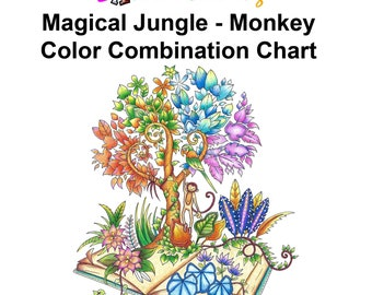 Magical Jungle Monkey Easy How To Color By Numbers With Prismacolor Lisa Brando Extreme Coloring