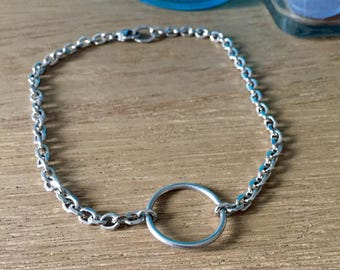 Stainless Steel O-Ring Tattoo Choker