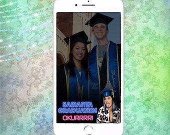 snapchat,geofilter,dope,filter,hip hop,rap,graduation filter,graduation snapchat,college,high school,okurrr,cardi b,cardi